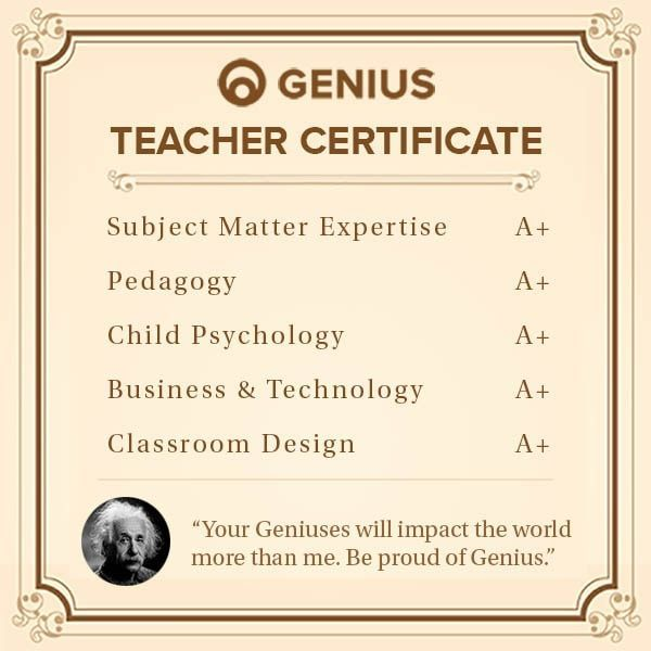 genius teacher training certificate